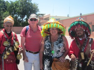 The Meikle's in Marrakech with Berber Treasures Morocco Tours of Morocco