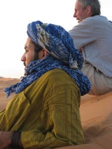 J Mitchell at Erg Chebbi with Berber Treasures Morocco Tours of Erg Chebbi